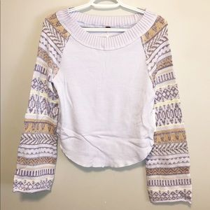 Free People Fairground Thermal Top Sky Size Medium
